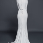 closed back wedding gowns with sleeves