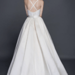 cris cros back ball gown wedding dress