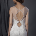 back of illusion neckline bridal dress