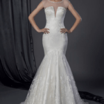 sheer illusion neckline bridal dresses