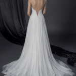 back of beach wedding dress