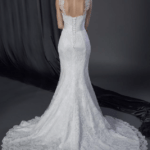 keyhole back wedding gown