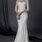 sheer long sleeve bridal dresses