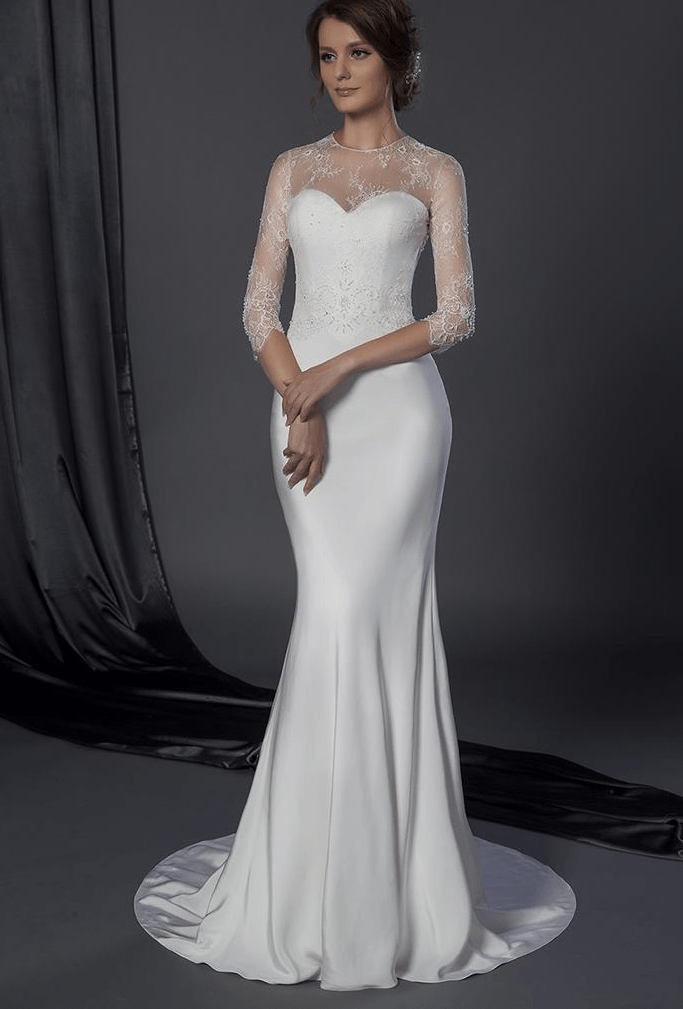 sheer long sleeve bridal dresses darius cordell fashion ltd