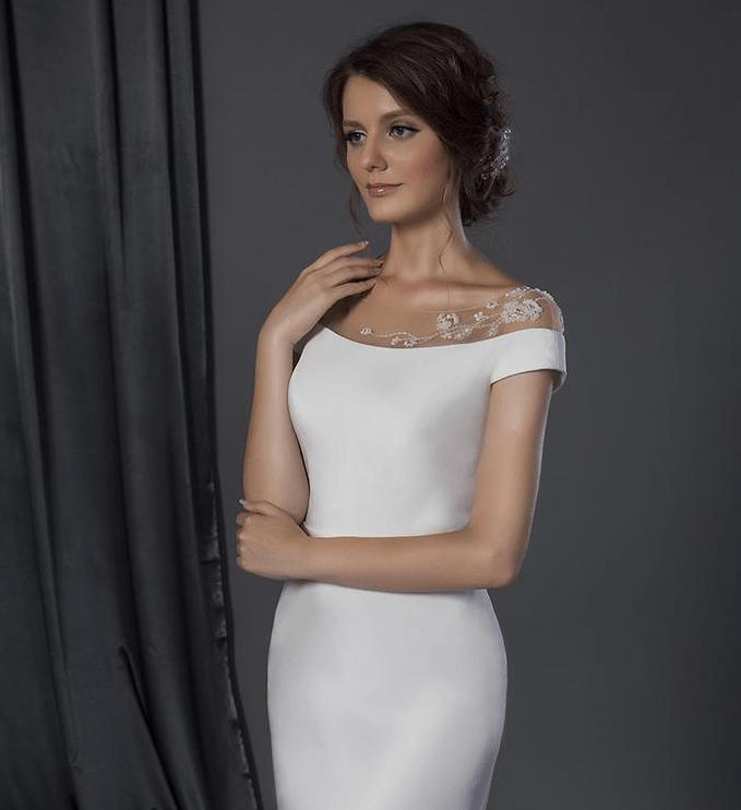 Preiswerte Couture Brautkleider mit der Schulter Design