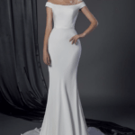 inexpensive off the shoulder bridal gown