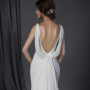 cowl back bridal gown close