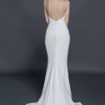 backless white bridal gown