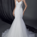 Fit and Flareorganzaweddinggowns