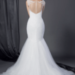 Sheer back Bridal Dresses