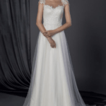 Classic wedding dresses with cap sleeves