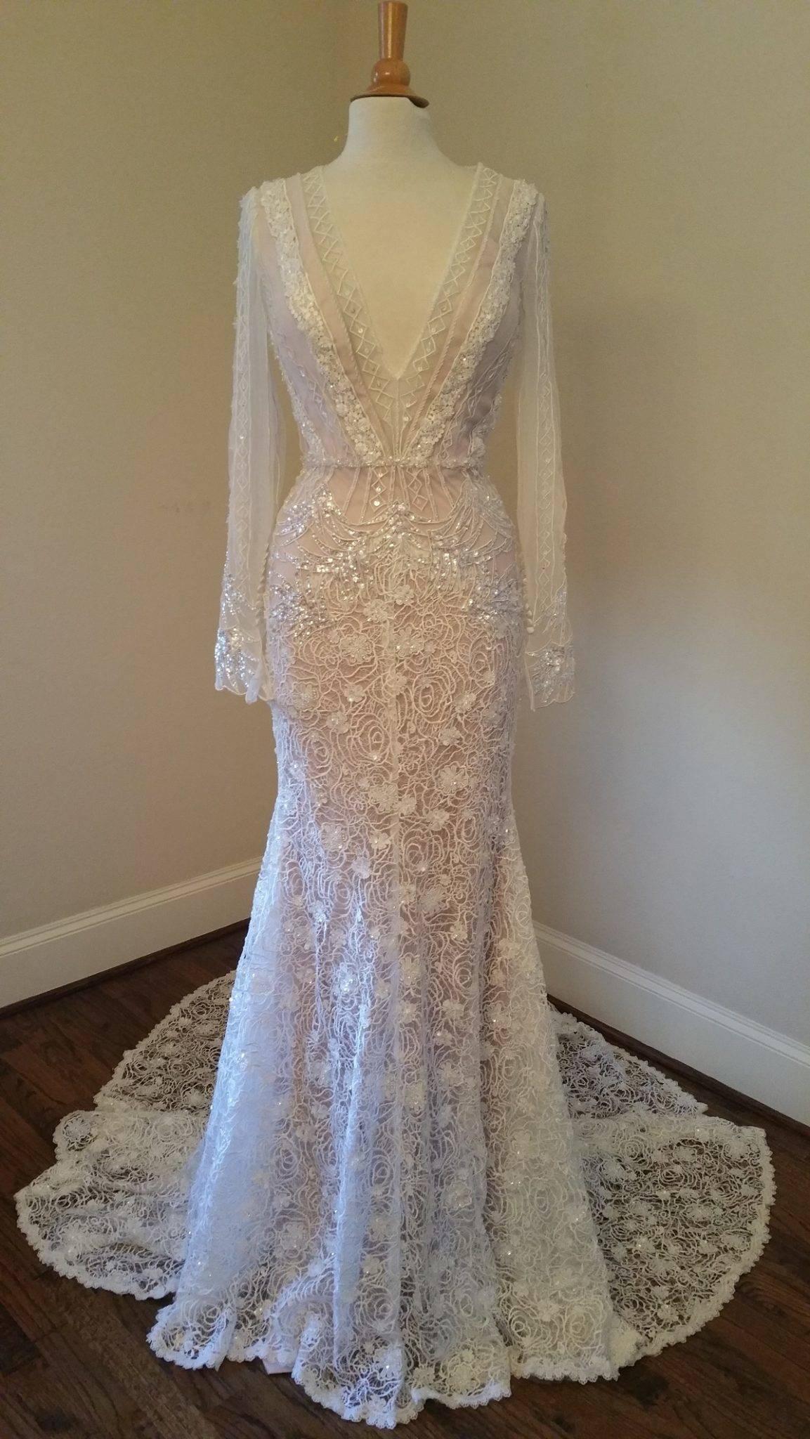 bac271233757 2016 beaded lace wedding dress inspired by inbal dror – DARIUS FASHION