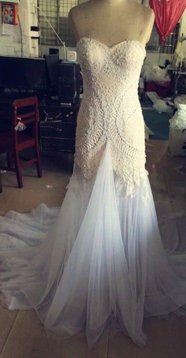 Vestido de boda de alta costura Réplica hecha por Darius