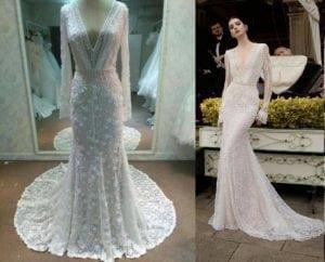 replica long sleeve wedding dress inspired by inbal dror