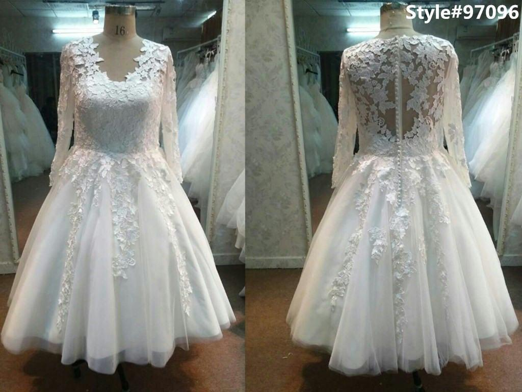 Style 1 plus size lace bridal dresses with long