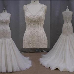 Style #XF5872  Beaded Embroidery Wedding Dresses - Darius Cordell