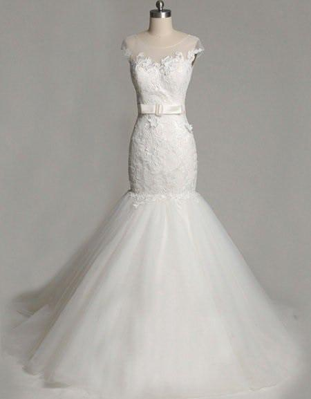 Fit To Flare Bridal Gown With Cap Sleeves Darius Cordell