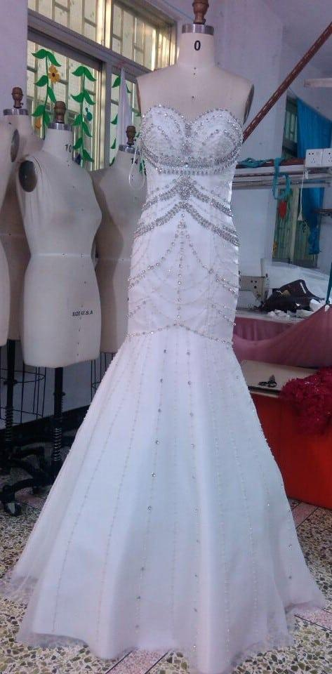 Beaded fit to flare bridal dresses by darius cordell for Fit and flare wedding dress body type