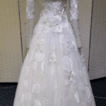 embroidered bridal gowns with long sleeves