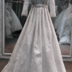 beaded plus size bridal gowns with long sleeves