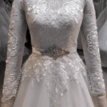 plus size lace bridal gowns with long sleeves