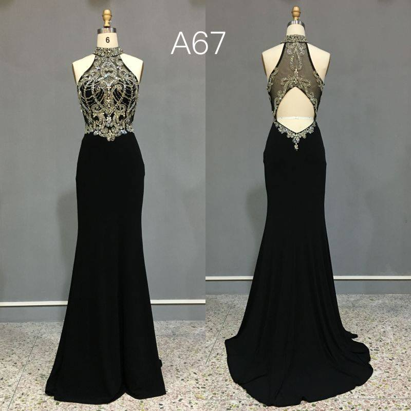 Black Halter Style Prom Dresses From The Darius Collection
