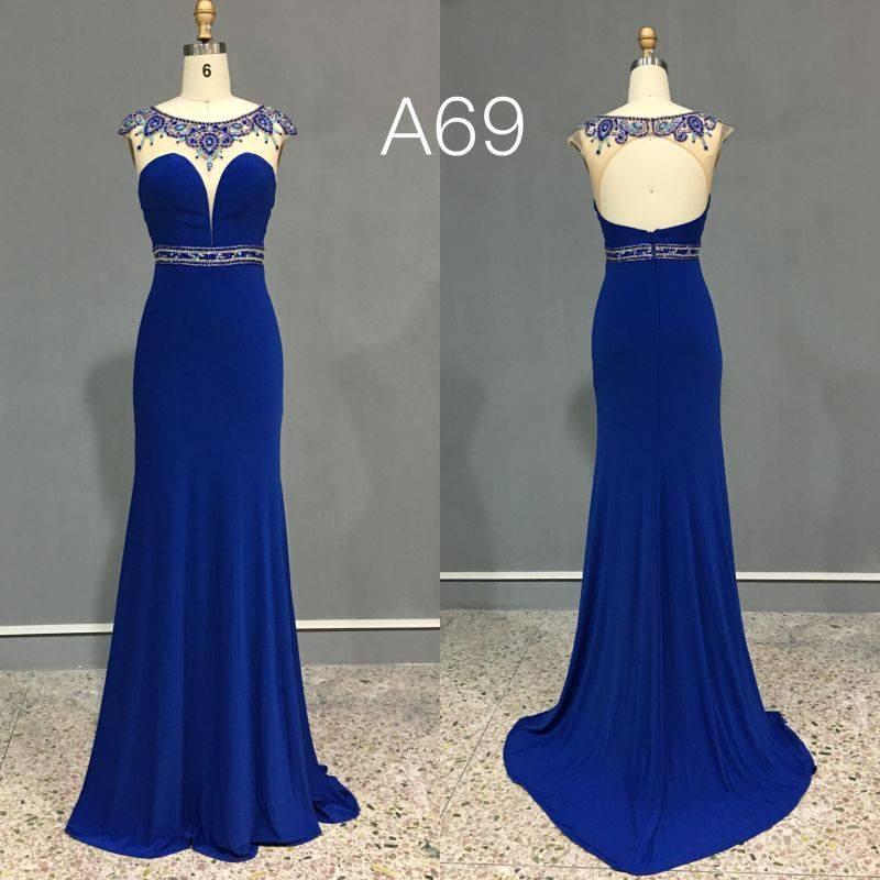 85783e46cd2 Blue couture evening wear - Darius Cordell Fashion Ltd
