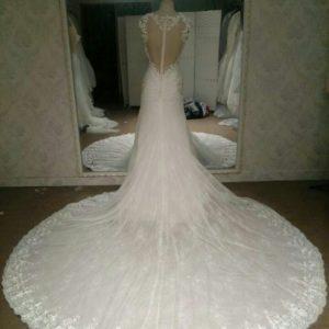 Chapel length wedding dresses by Darius Cordell