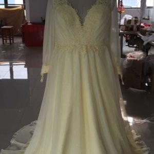 Style #E1431 - Light Pastel Yellow Plus Size Evening Dresses