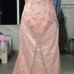 Style #61016 - Blush Beaded Evening Gown