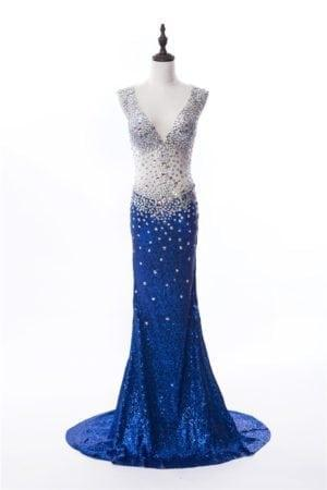 Silver and Blue Pageant Gowns by Darius Cordell