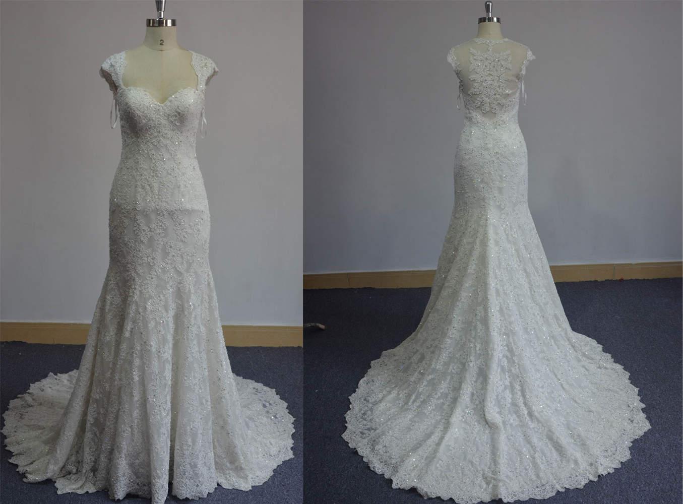 Beaded stretch lace wedding dresses darius cordell for Stretch lace wedding dress