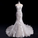 Style #Apr102016EM - Embroidered Fit-to-Flare Wedding Gowns - Darius Cordell