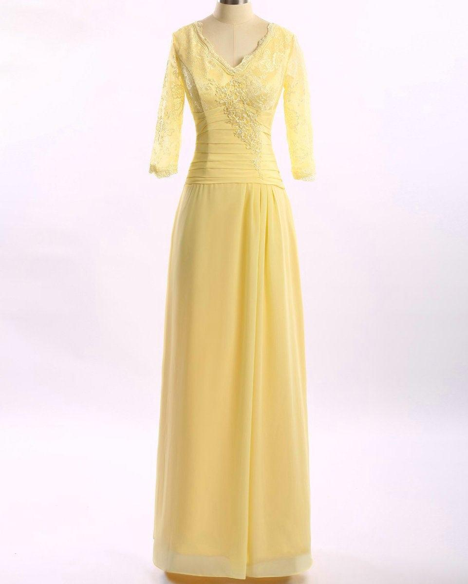Pastel Yellow Mother Of The Bride Dresses 40
