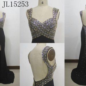 Style JL Black empire waist evening gowns Darius Cordell