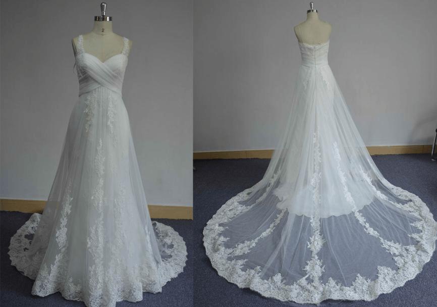 Plus size empire waist wedding dress darius cordell for Plus size empire wedding dress