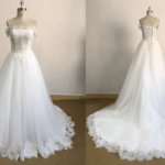 Style#ST Offtheshoulderlaceupbackweddingdress DariusCordell
