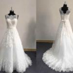 style sthol sleeveless illusion neckline bridal dresses darius cordell