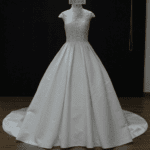 Style #WX1668 - Short Sleeve High Collar Wedding Dresses - Darius Cordell