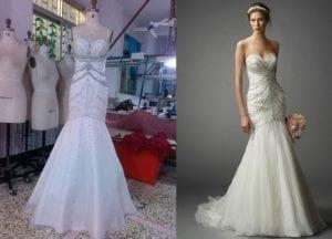 Replica of Pronovias strapless