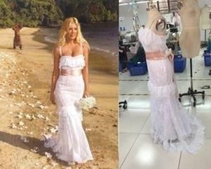 Replica of Tori Spelling Wedding Dress