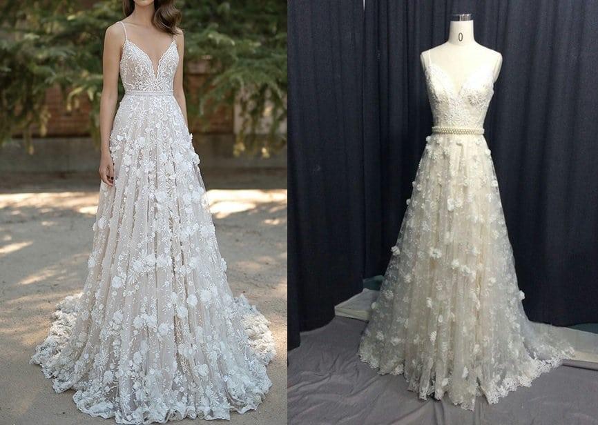 Custom Wedding Dress Inspired by Berta - Darius Designs