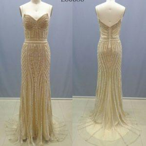 Style #L60686 - Gold beaded Pageant Gowns - Darius Cordell