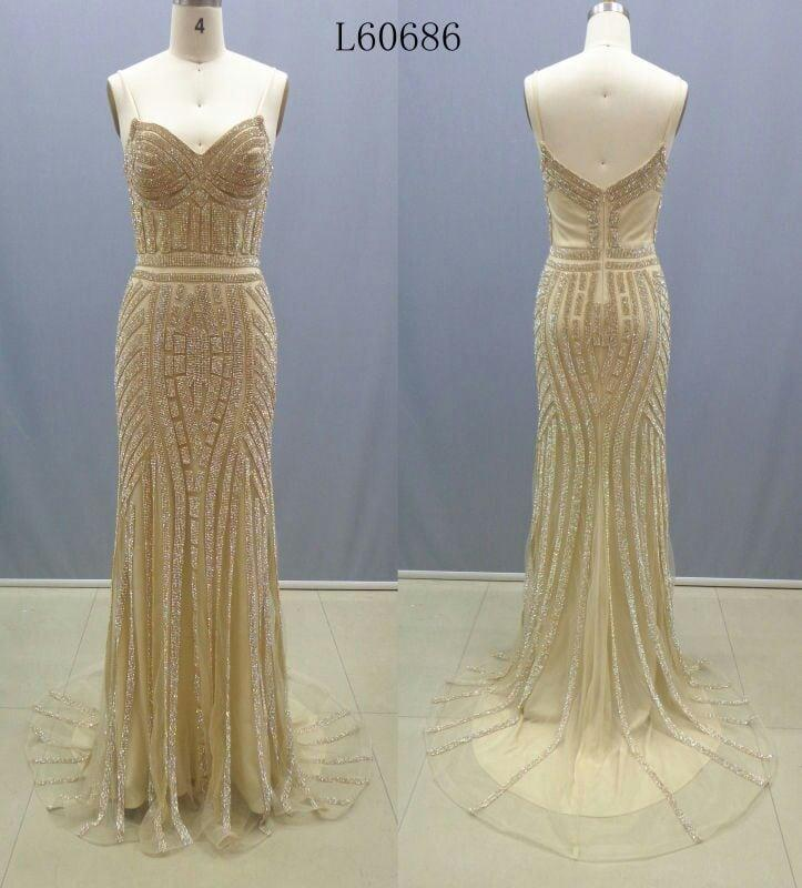 Gold Beaded Dresses