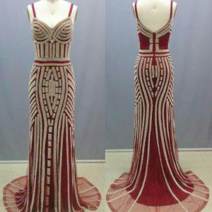 Style #L60686 red pageant gowns
