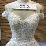 Style #222 - Off the shoulder bridal gowns with embroidery lace by darius Cordell Couture fashion designs