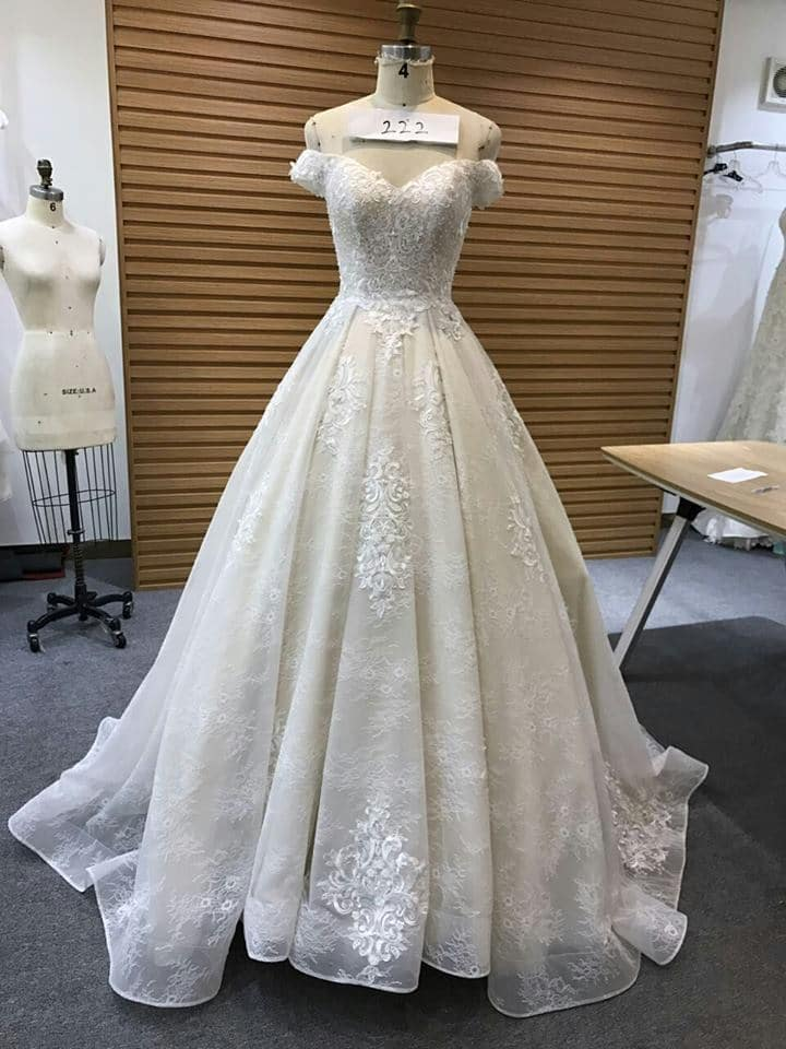 Off the shoulder bridal gowns from Darius Couture