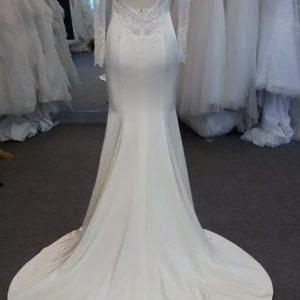 Style #8573S - long sleeve bridal dress with keyhole back from Darius Cordell Designs