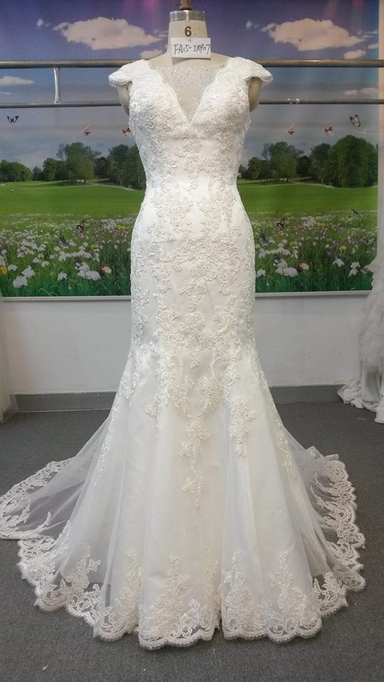 Petite Cap Sleeve Lace Wedding Gown From Darius Bridal