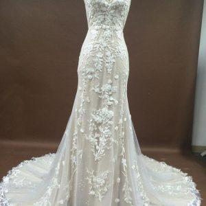 Style #051117SUn - Sexy v-neck style wedding gown from darius cordell couture fashion designs